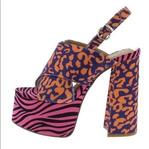 Boutique x Lemonade Shoes - Multi Platform Animal Print Heels